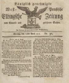 Elbingsche Zeitung, No. 30 Montag, 13 April 1812