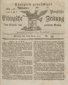 Elbingsche Zeitung, No. 34 Montag, 27 April 1812