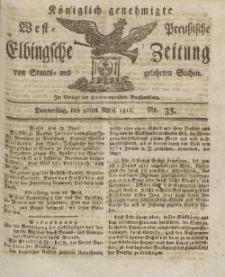 Elbingsche Zeitung, No. 35 Donnerstag, 30 April 1812
