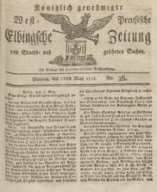 Elbingsche Zeitung, No. 38 Montag, 11 Mai 1812
