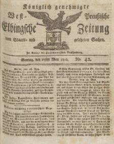 Elbingsche Zeitung, No. 42 Montag, 25 Mai 1812