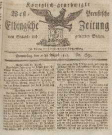 Elbingsche Zeitung, No. 69 Donnerstag, 27 August 1812