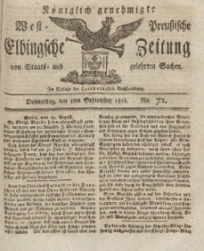 Elbingsche Zeitung, No. 71 Donnerstag, 3 September 1812