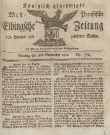 Elbingsche Zeitung, No. 72 Montag, 7 September 1812