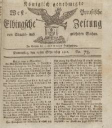Elbingsche Zeitung, No. 73 Donnerstag, 10 September 1812