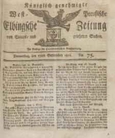 Elbingsche Zeitung, No. 75 Donnerstag, 17 September 1812