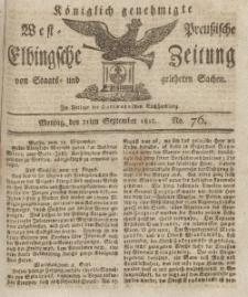 Elbingsche Zeitung, No. 76 Montag, 21 September 1812
