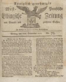 Elbingsche Zeitung, No. 78 Montag, 28 September 1812