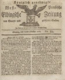 Elbingsche Zeitung, No. 84 Montag, 19 Oktober 1812