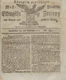 Elbingsche Zeitung, No. 89 Donnerstag, 5 November 1812
