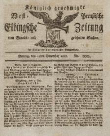 Elbingsche Zeitung, No. 100 Montag, 14 Dezember 1812