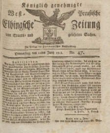 Elbingsche Zeitung, No. 47 Donnerstag, 11 Juni 1812