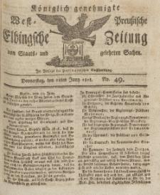 Elbingsche Zeitung, No. 49 Donnerstag, 18 Juni 1812