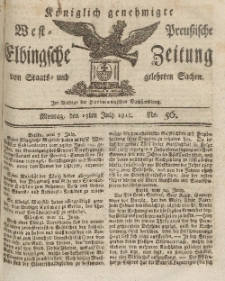 Elbingsche Zeitung, No. 56 Montag, 13 Juli 1812