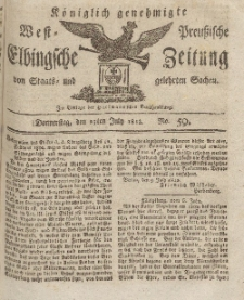 Elbingsche Zeitung, No. 59 Donnerstag, 23 Juli 1812
