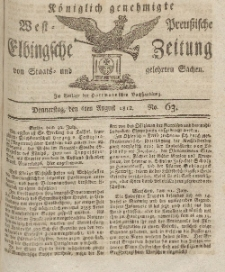 Elbingsche Zeitung, No. 63 Donnerstag, 6 August 1812