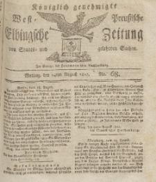 Elbingsche Zeitung, No. 68 Montag, 24 August 1812