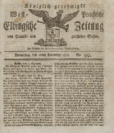Elbingsche Zeitung, No. 99 Donnerstag, 10 Dezember 1812