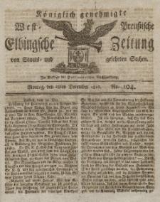 Elbingsche Zeitung, No. 104 Montag, 28 Dezember 1812