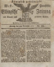 Elbingsche Zeitung, No. 88 Montag, 2 November 1812