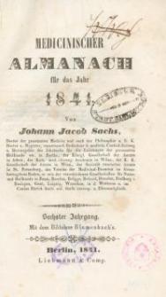 Medicinischer Almanach für das Jahr : 1841