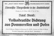 Volksdeutsche Dichtung aus Pommerellen und Posen