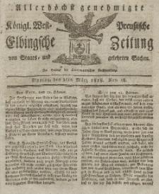 Elbingsche Zeitung, No. 18 Montag, 2 März 1818