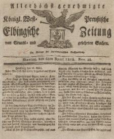 Elbingsche Zeitung, No. 28 Montag, 6 April 1818