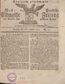 Elbingsche Zeitung, No. 1 Montag , 4 Januar 1813