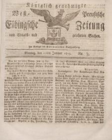 Elbingsche Zeitung, No. 3 Montag , 11 Januar 1813