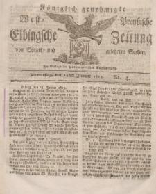 Elbingsche Zeitung, No. 4 Donnerstag , 14 Januar 1813