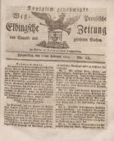 Elbingsche Zeitung, No. 12 Donnerstag, 11 Februar 1813