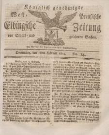 Elbingsche Zeitung, No. 14 Donnerstag, 18 Februar 1813