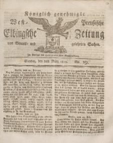 Elbingsche Zeitung, No. 19 Montag, 8 März 1813