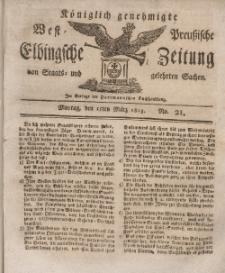 Elbingsche Zeitung, No. 21 Montag, 15 März 1813
