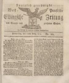 Elbingsche Zeitung, No. 22 Donnerstag, 18 März 1813