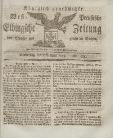 Elbingsche Zeitung, No. 28 Donnerstag, 08 April 1813