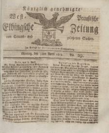 Elbingsche Zeitung, No. 29 Montag, 12 April 1813