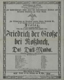 Friedrich der Grosse bei Rossbach, oder: Das Duell-Mandat - Vogel Wilhelm