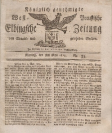 Elbingsche Zeitung, No. 35 Montag, 3 Mai 1813
