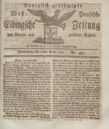 Elbingsche Zeitung, No. 40 Donnerstag, 20 Mai 1813