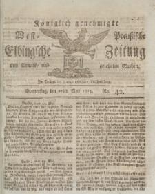 Elbingsche Zeitung, No. 42 Donnerstag, 27 Mai 1813