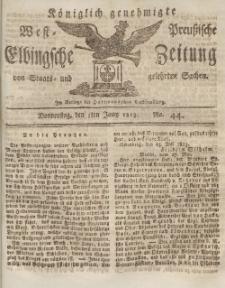 Elbingsche Zeitung, No. 44 Donnerstag, 3 Juni 1813
