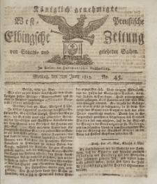 Elbingsche Zeitung, No. 45 Montag, 7 Juni 1813