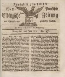Elbingsche Zeitung, No. 47 Montag, 14Juni 1813