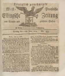 Elbingsche Zeitung, No. 49 Montag, 21 Juni 1813