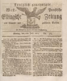 Elbingsche Zeitung, No. 53 Montag, 5 Juli 1813