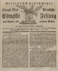 Elbingsche Zeitung, No. 41 Donnerstag, 21 Mai 1818