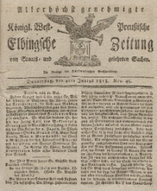 Elbingsche Zeitung, No. 45 Donnerstag, 4 Juni 1818