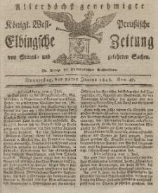 Elbingsche Zeitung, No. 47 Donnerstag, 11 Juni 1818
